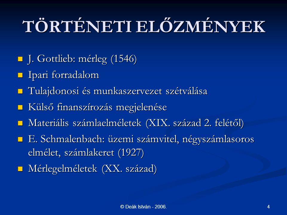 TÖRTÉNETI ELŐZMÉNYEK J. Gottlieb: mérleg (1546) Ipari forradalom