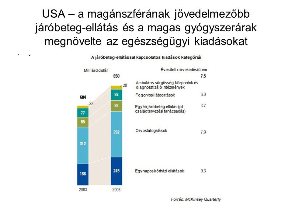 USA – a magánszférának jövedelmezőbb járóbeteg-ellátás és a magas gyógyszerárak megnövelte az egészségügyi kiadásokat