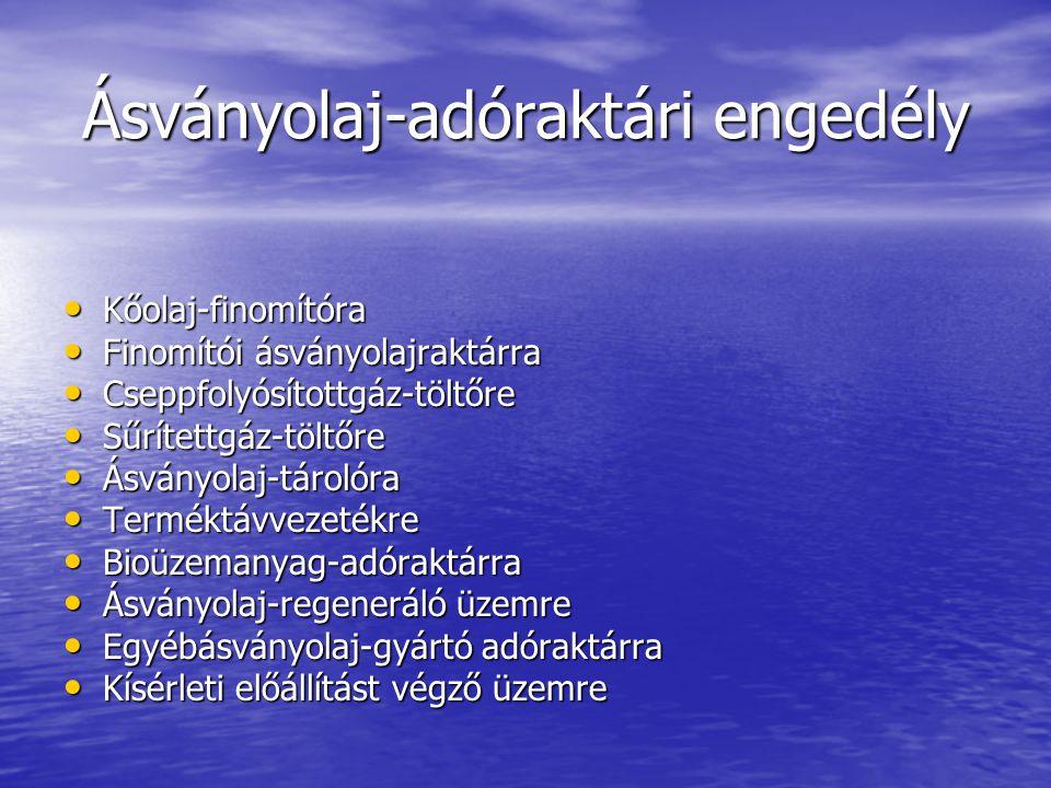 Ásványolaj-adóraktári engedély