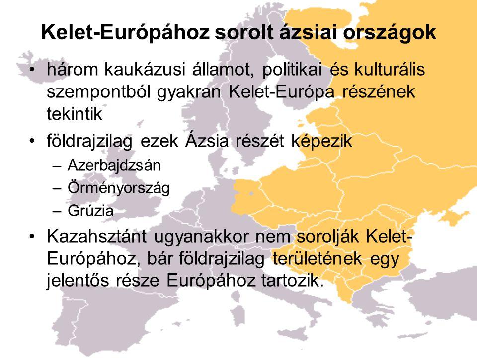 Kelet-Európához sorolt ázsiai országok