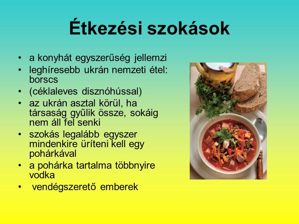 Étkezési szokások a konyhát egyszerűség jellemzi