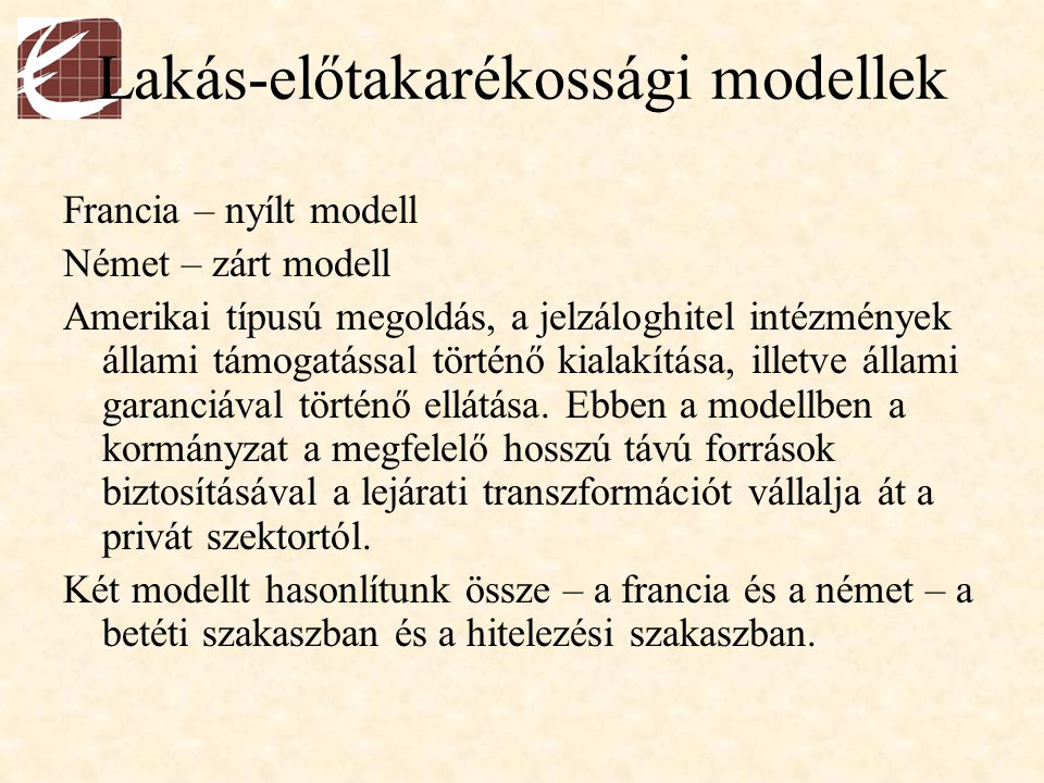 Lakás-előtakarékossági modellek