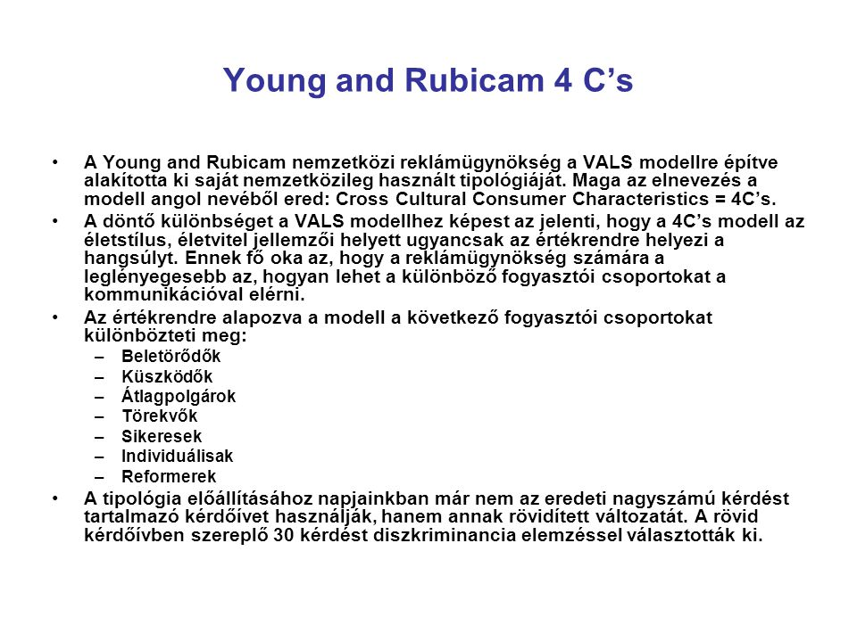 Young and Rubicam 4 C's