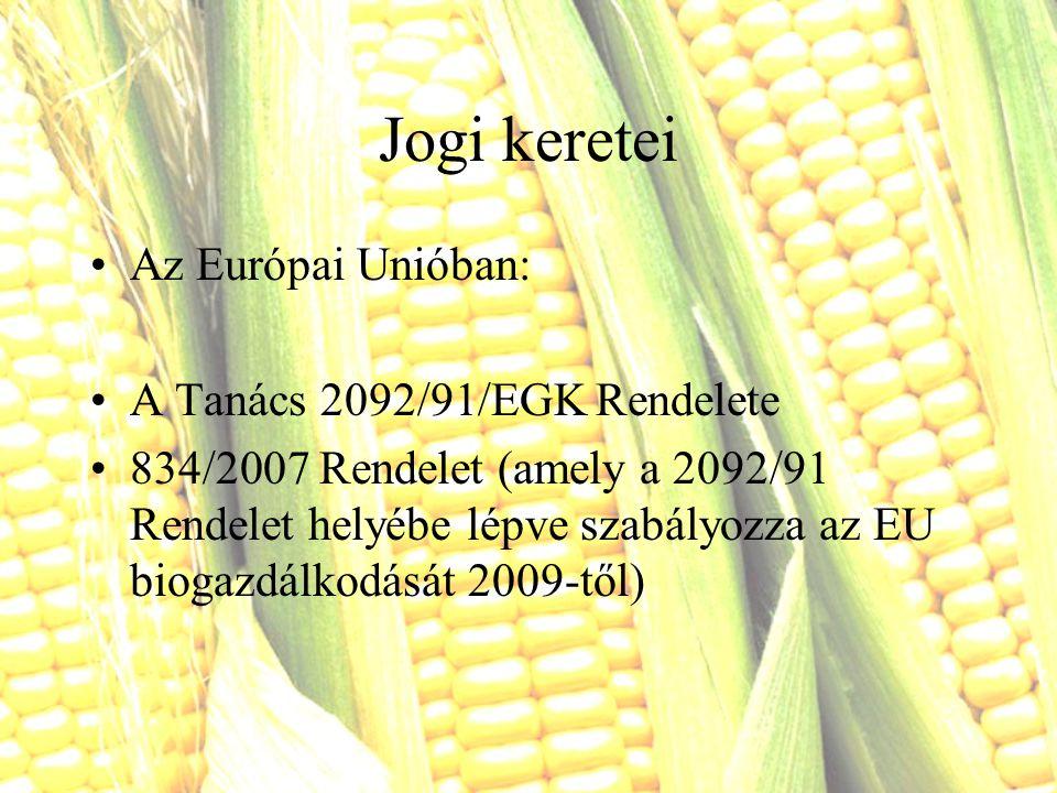 Jogi keretei Az Európai Unióban: A Tanács 2092/91/EGK Rendelete