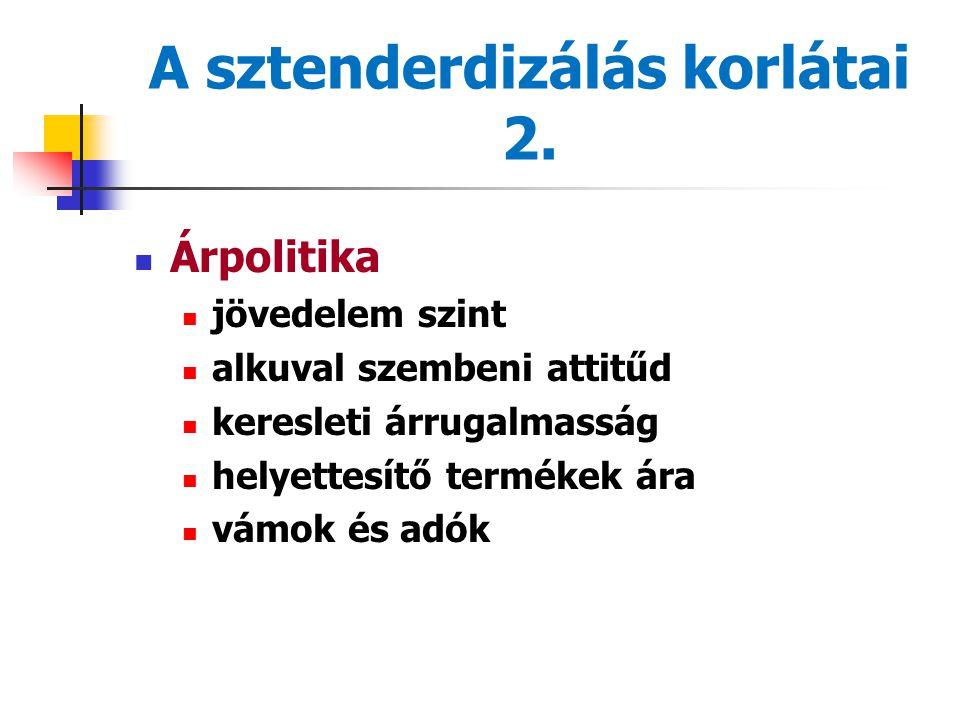 A sztenderdizálás korlátai 2.