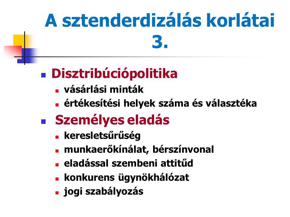 A sztenderdizálás korlátai 3.