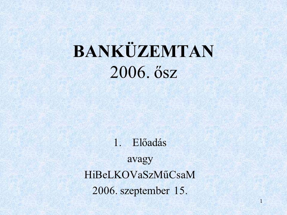 Előadás avagy HiBeLKOVaSzMűCsaM 2006. szeptember 15.