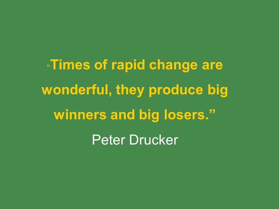 wonderful, they produce big winners and big losers.