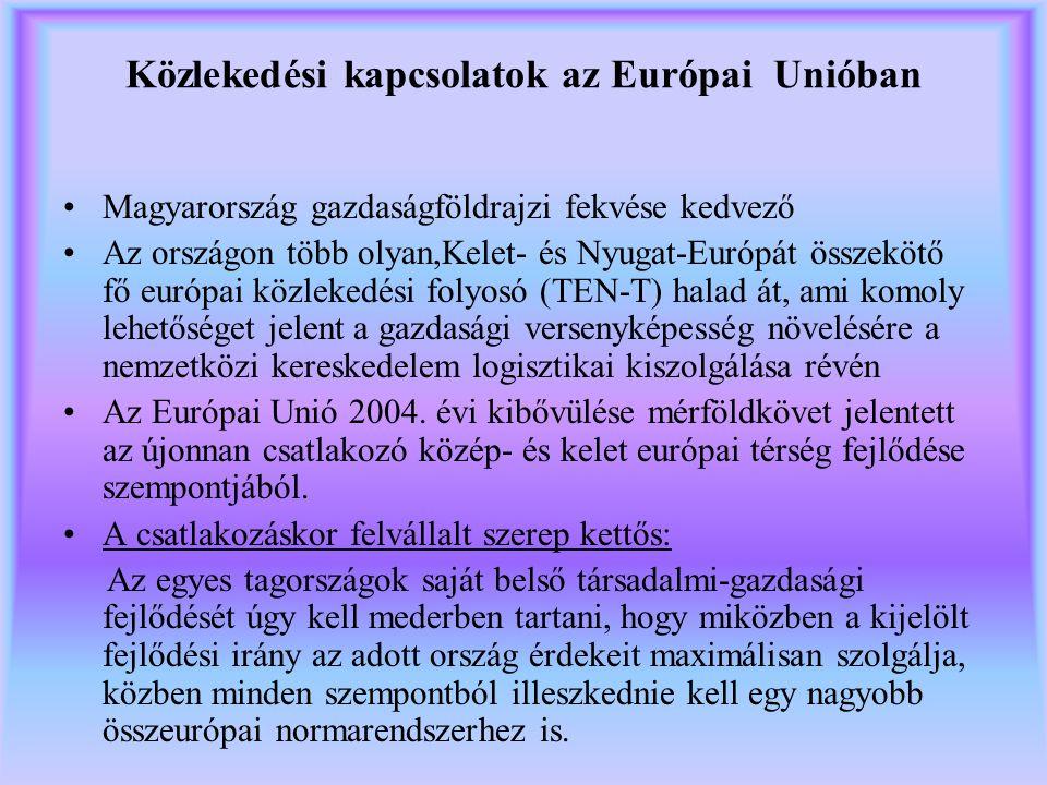 Közlekedési kapcsolatok az Európai Unióban