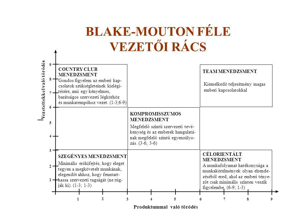 BLAKE-MOUTON FÉLE VEZETŐI RÁCS