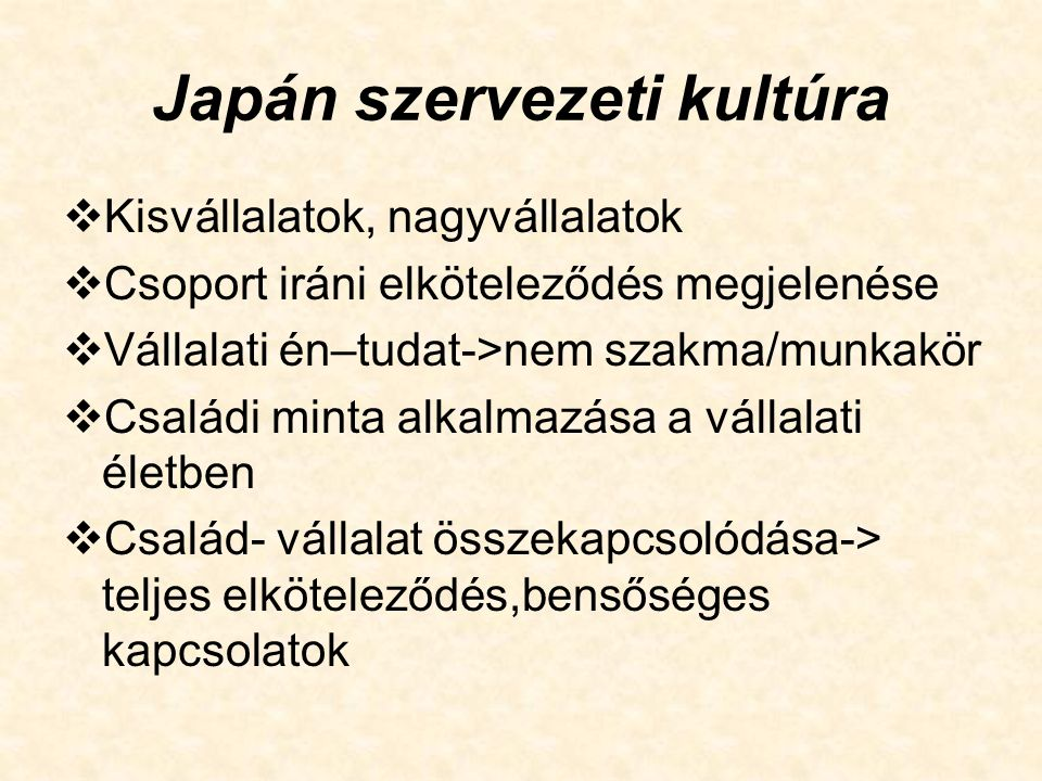 Japán szervezeti kultúra