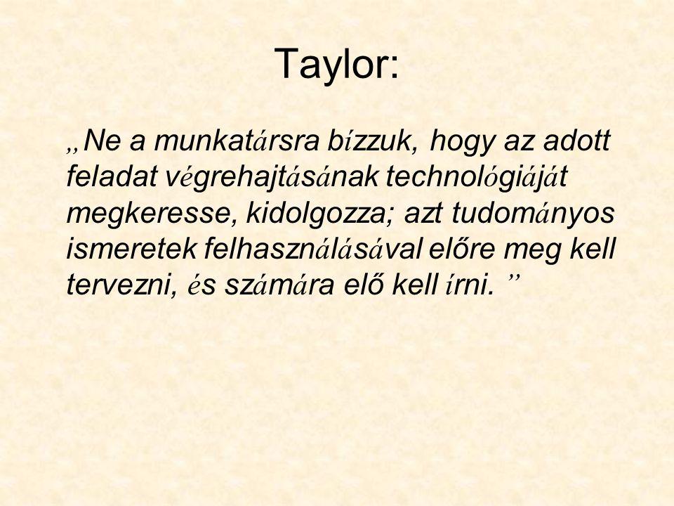 Taylor:
