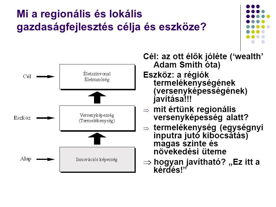 Mi a regionális és lokális gazdaságfejlesztés célja és eszköze