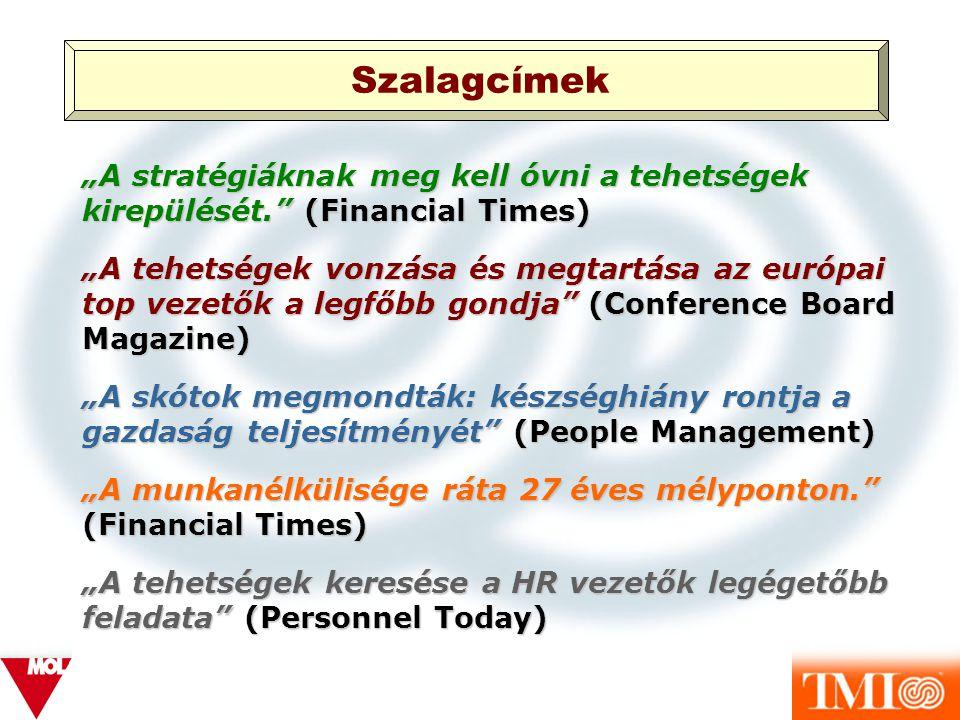 """Szalagcímek """"A stratégiáknak meg kell óvni a tehetségek kirepülését. (Financial Times)"""