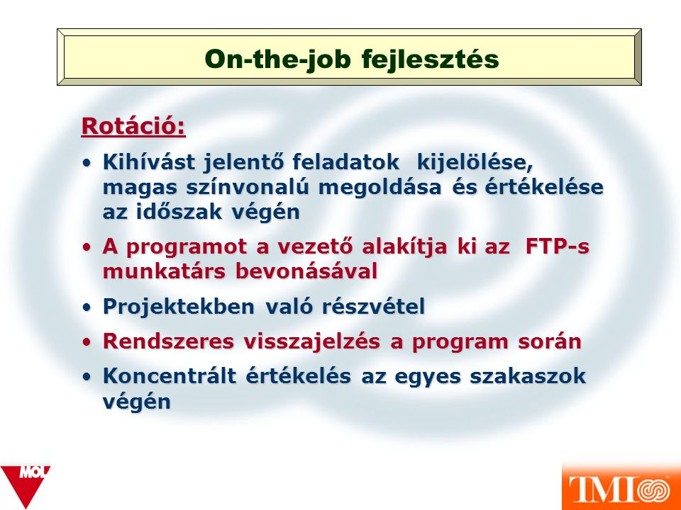 On-the-job fejlesztés