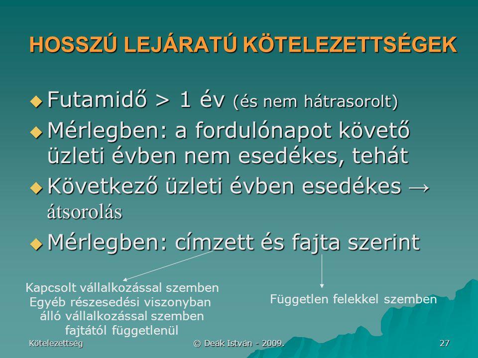 HOSSZÚ LEJÁRATÚ KÖTELEZETTSÉGEK