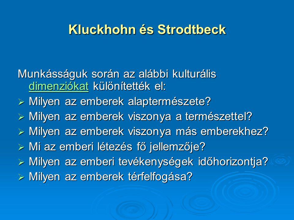 Kluckhohn és Strodtbeck