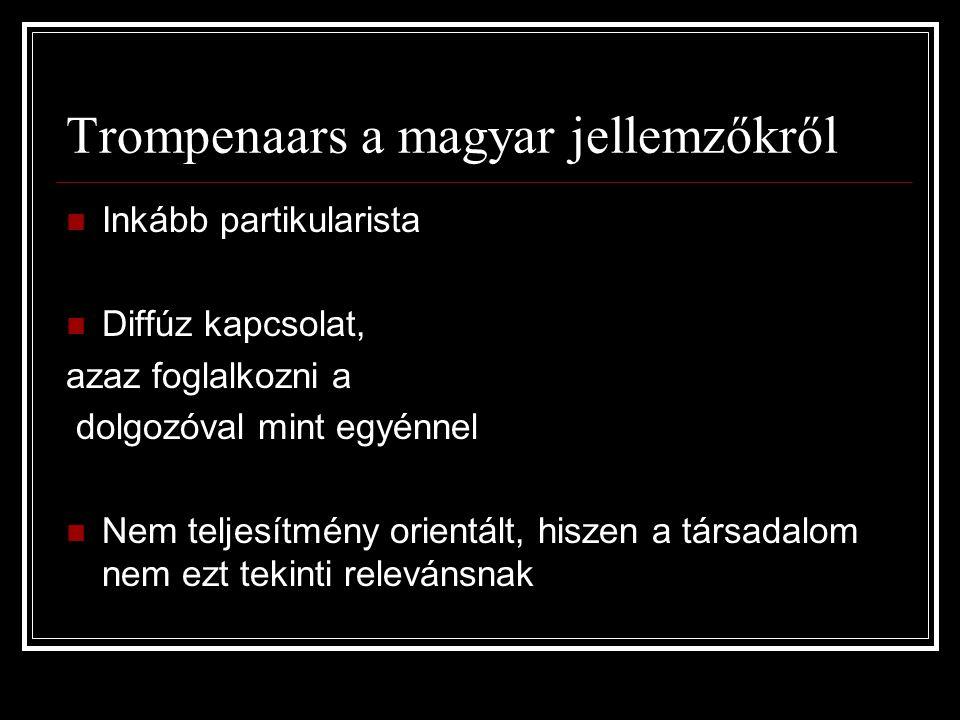Trompenaars a magyar jellemzőkről