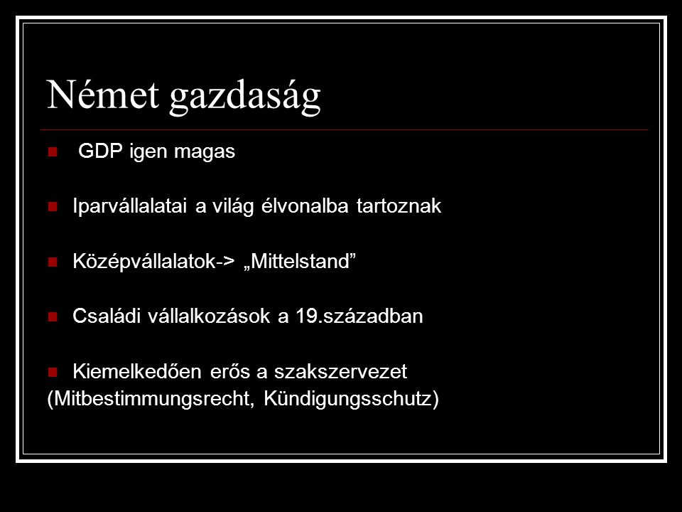 Német gazdaság GDP igen magas