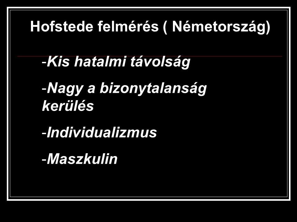 Hofstede felmérés ( Németország)