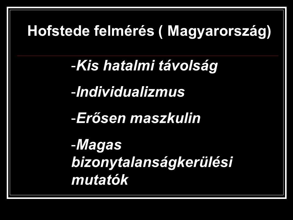 Hofstede felmérés ( Magyarország)