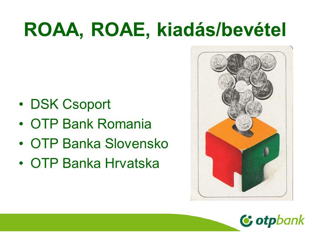 ROAA, ROAE, kiadás/bevétel