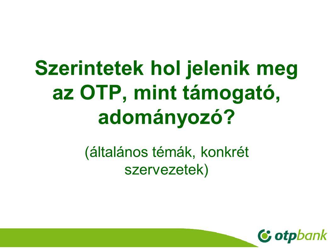 Szerintetek hol jelenik meg az OTP, mint támogató, adományozó