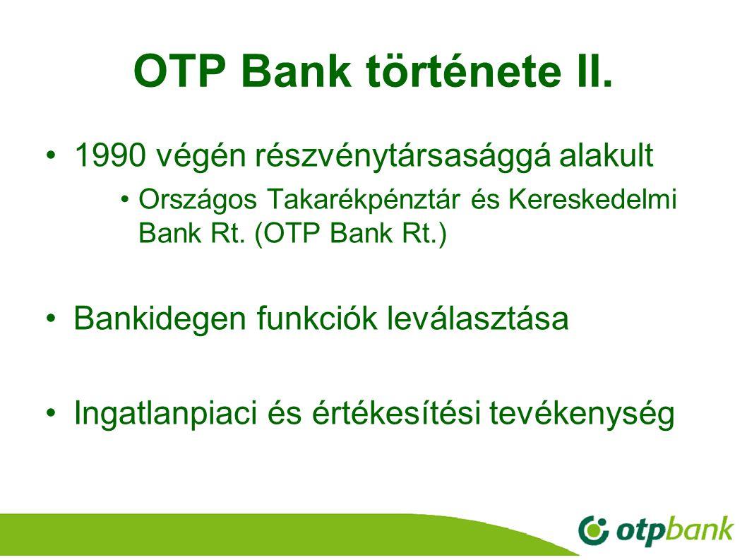 OTP Bank története II. 1990 végén részvénytársasággá alakult
