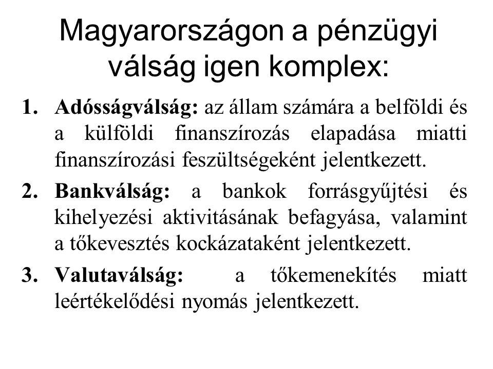 Magyarországon a pénzügyi válság igen komplex: