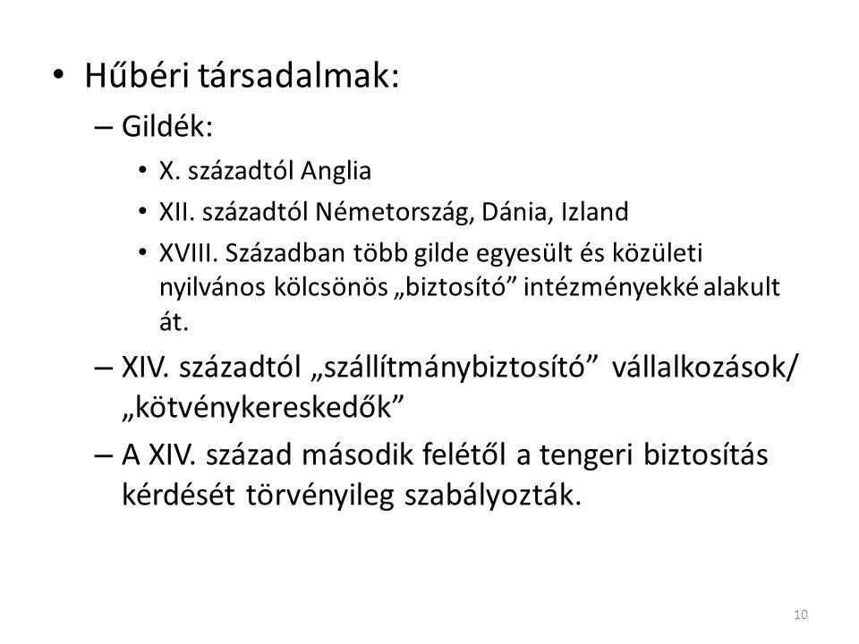 Hűbéri társadalmak: Gildék: