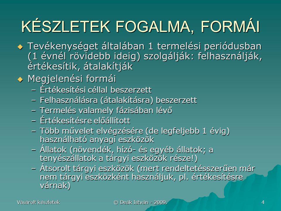 KÉSZLETEK FOGALMA, FORMÁI