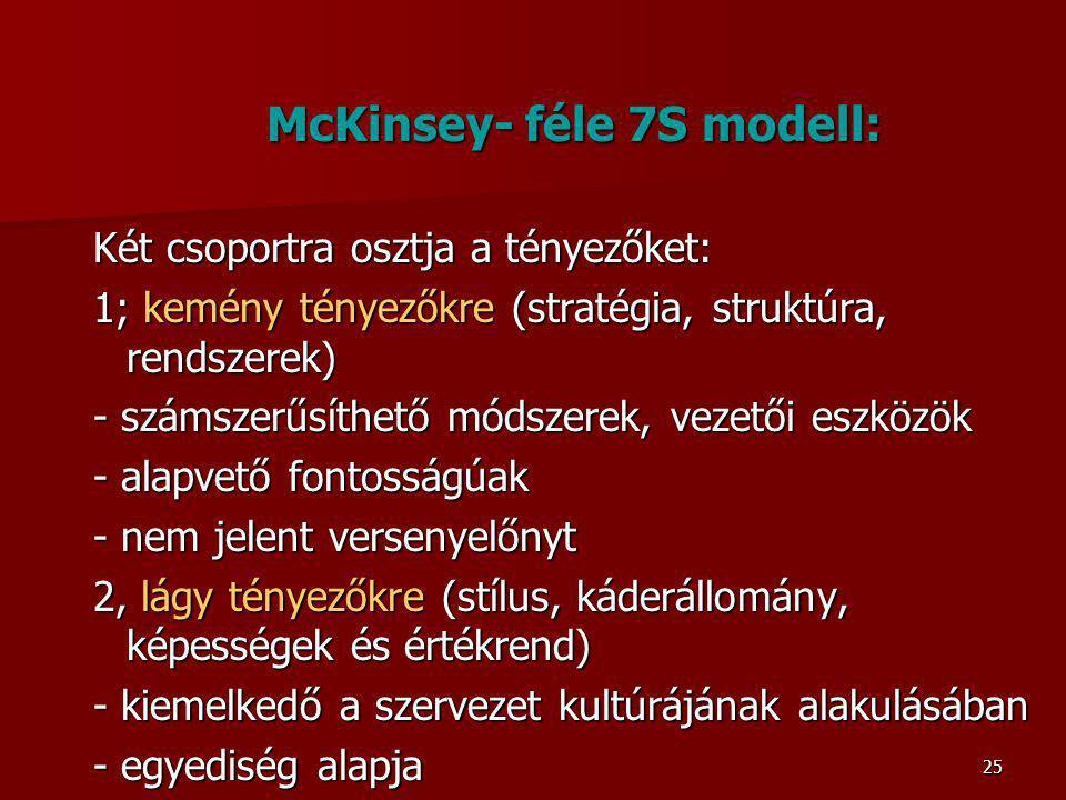 McKinsey- féle 7S modell: