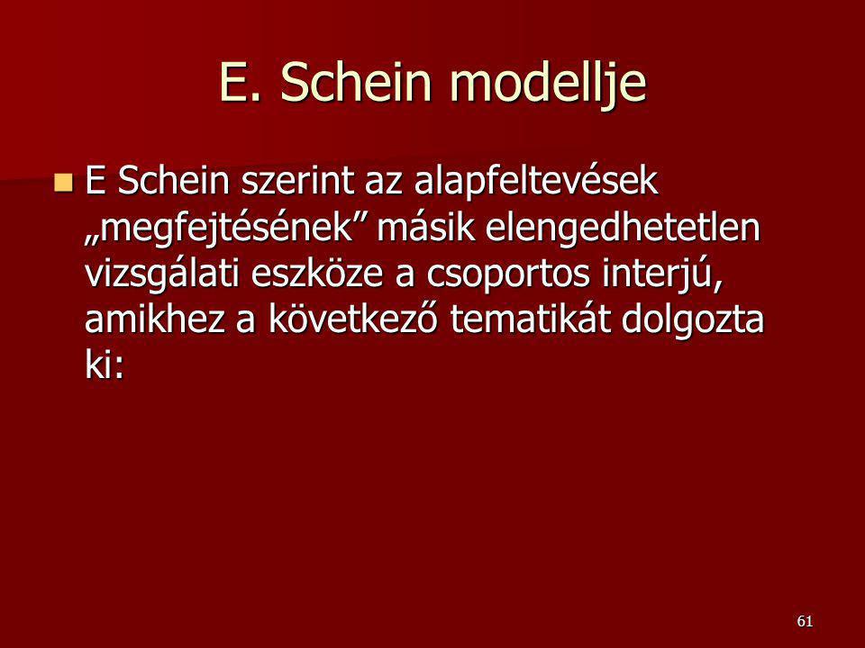 E. Schein modellje
