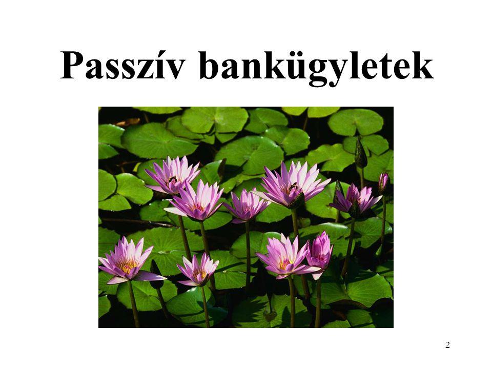 Passzív bankügyletek