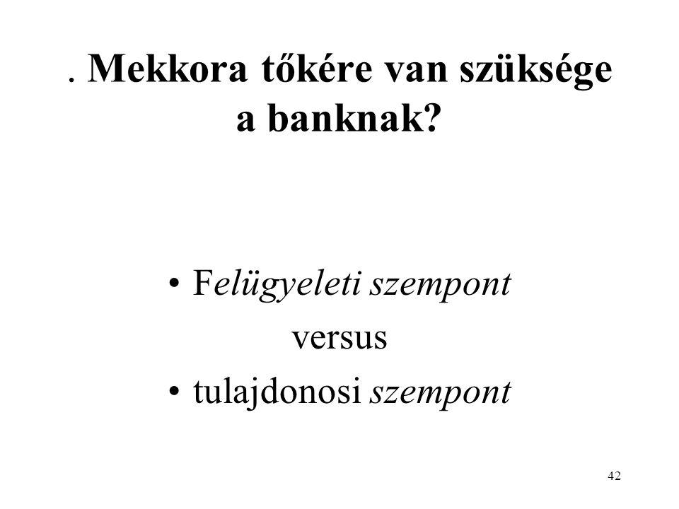 . Mekkora tőkére van szüksége a banknak