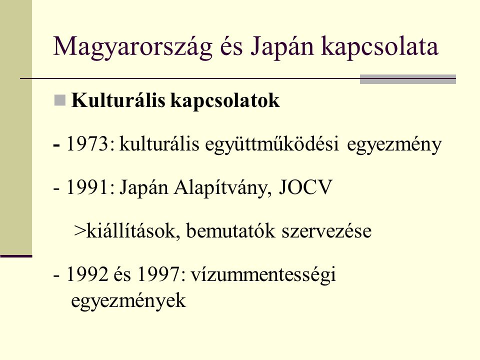 Magyarország és Japán kapcsolata