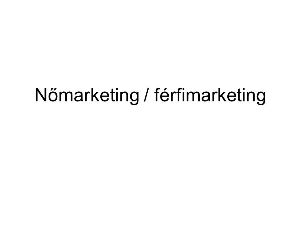 Nőmarketing / férfimarketing