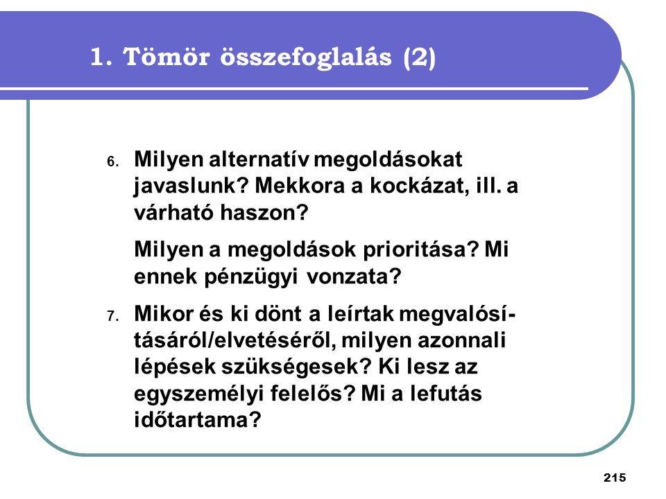 1. Tömör összefoglalás (2)