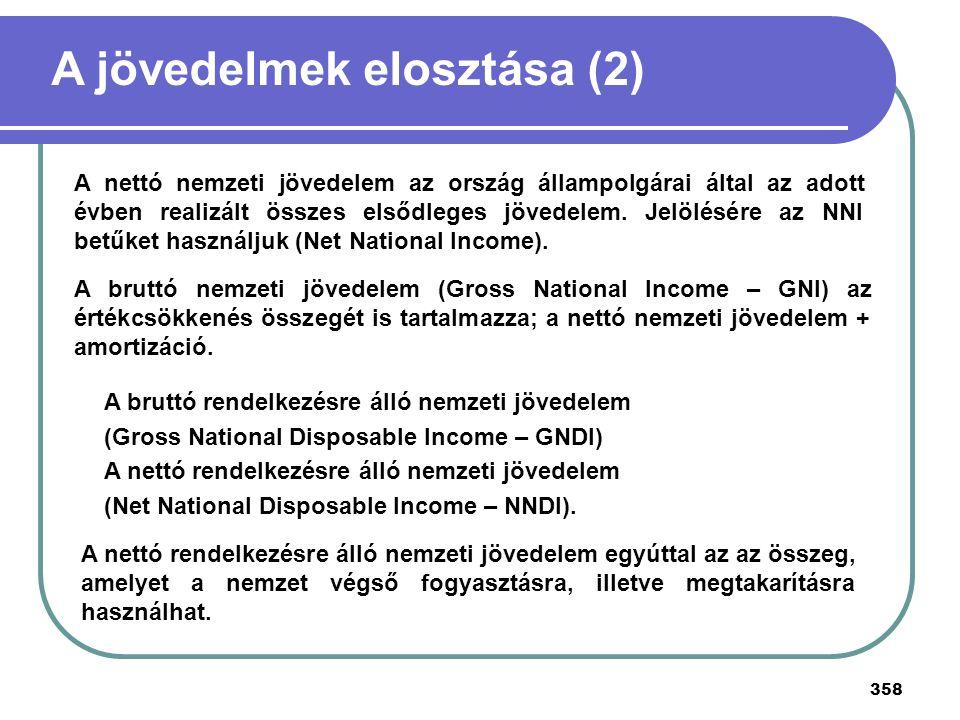 A jövedelmek elosztása (2)