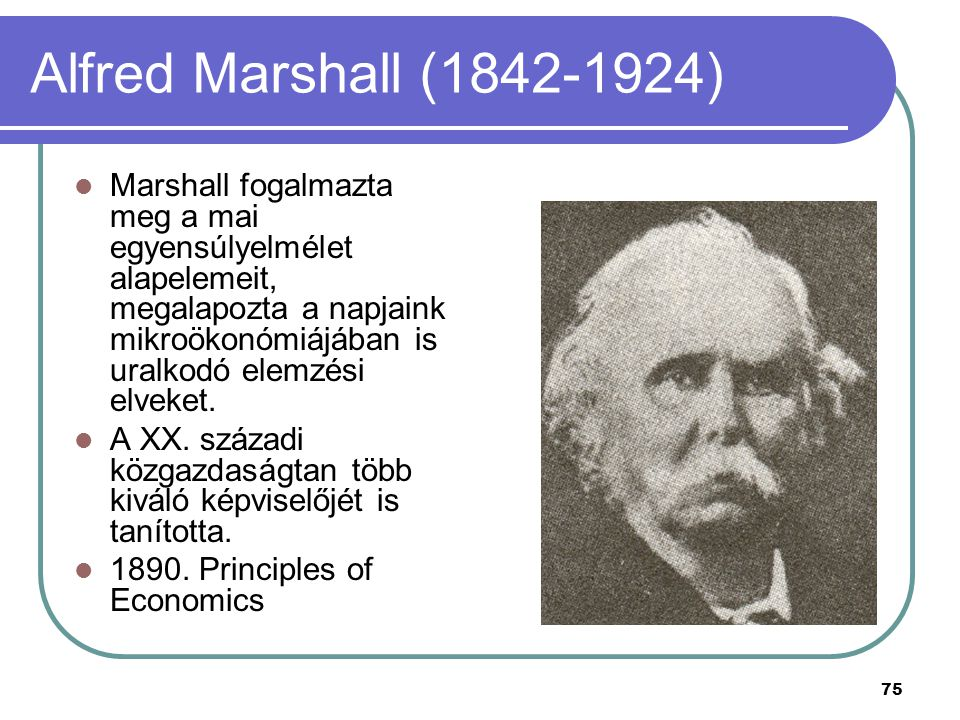 Alfred Marshall (1842-1924)