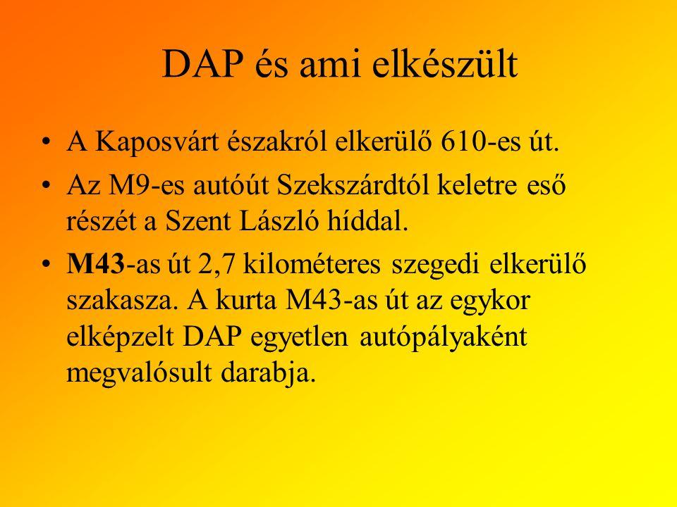 DAP és ami elkészült A Kaposvárt északról elkerülő 610-es út.