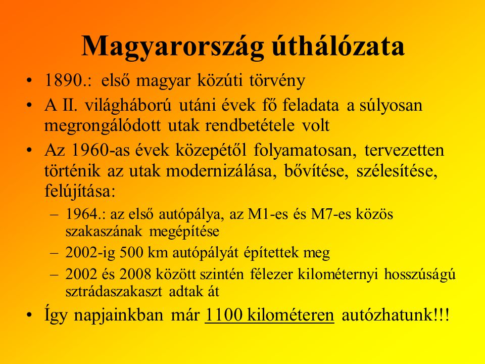 Magyarország úthálózata