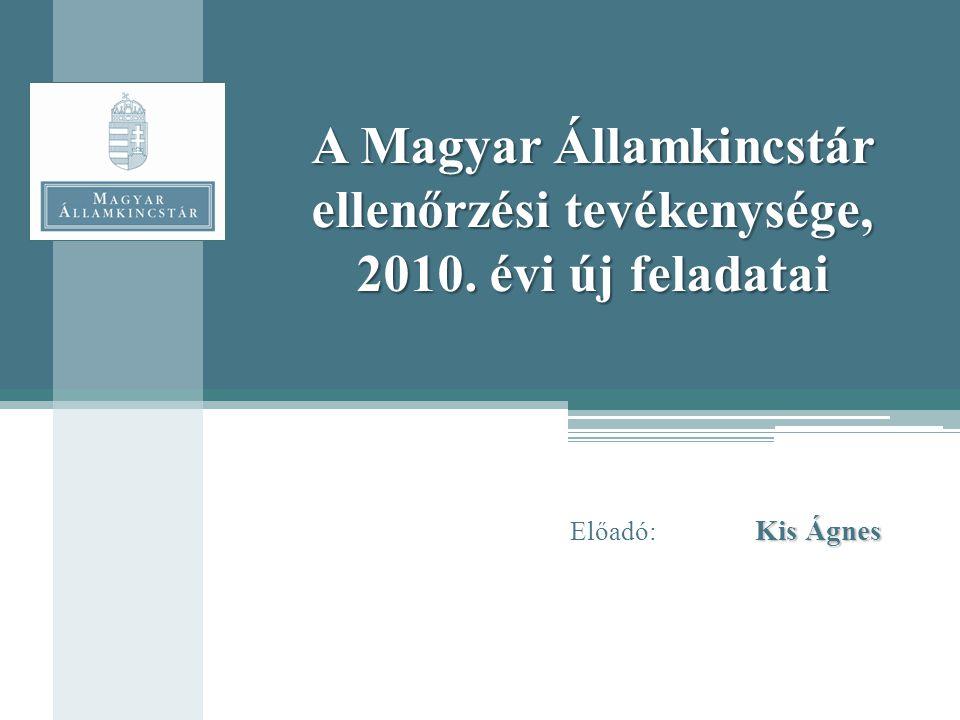 A Magyar Államkincstár ellenőrzési tevékenysége, 2010. évi új feladatai