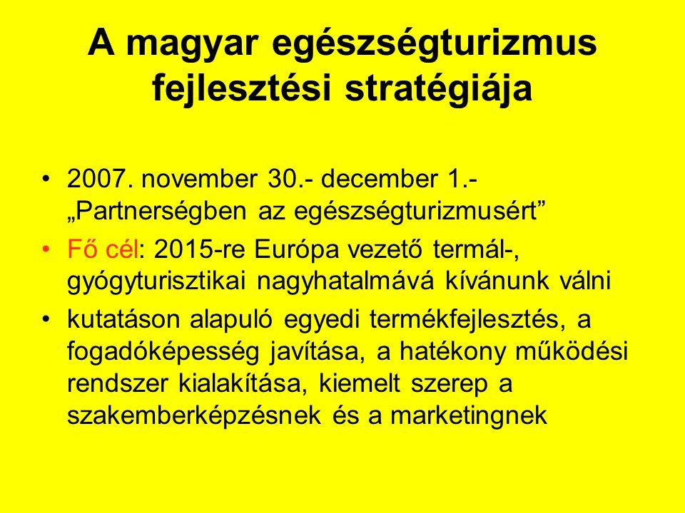 A magyar egészségturizmus fejlesztési stratégiája