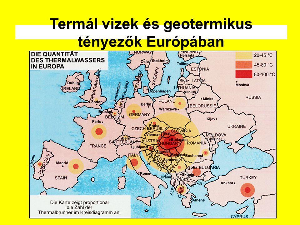 Termál vizek és geotermikus tényezők Európában