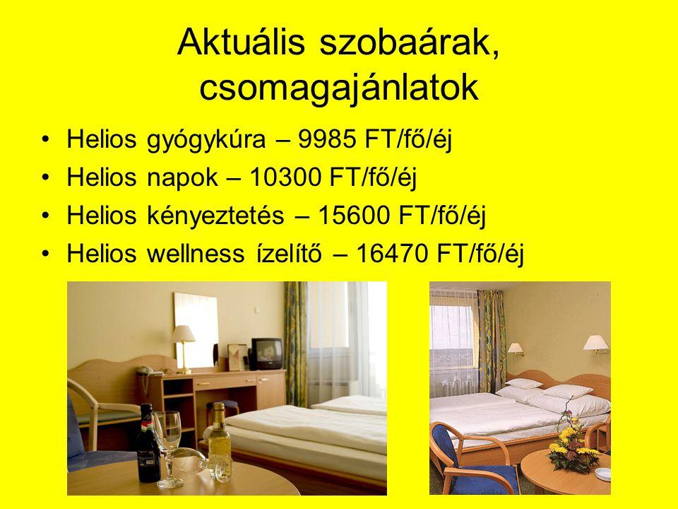 Aktuális szobaárak, csomagajánlatok