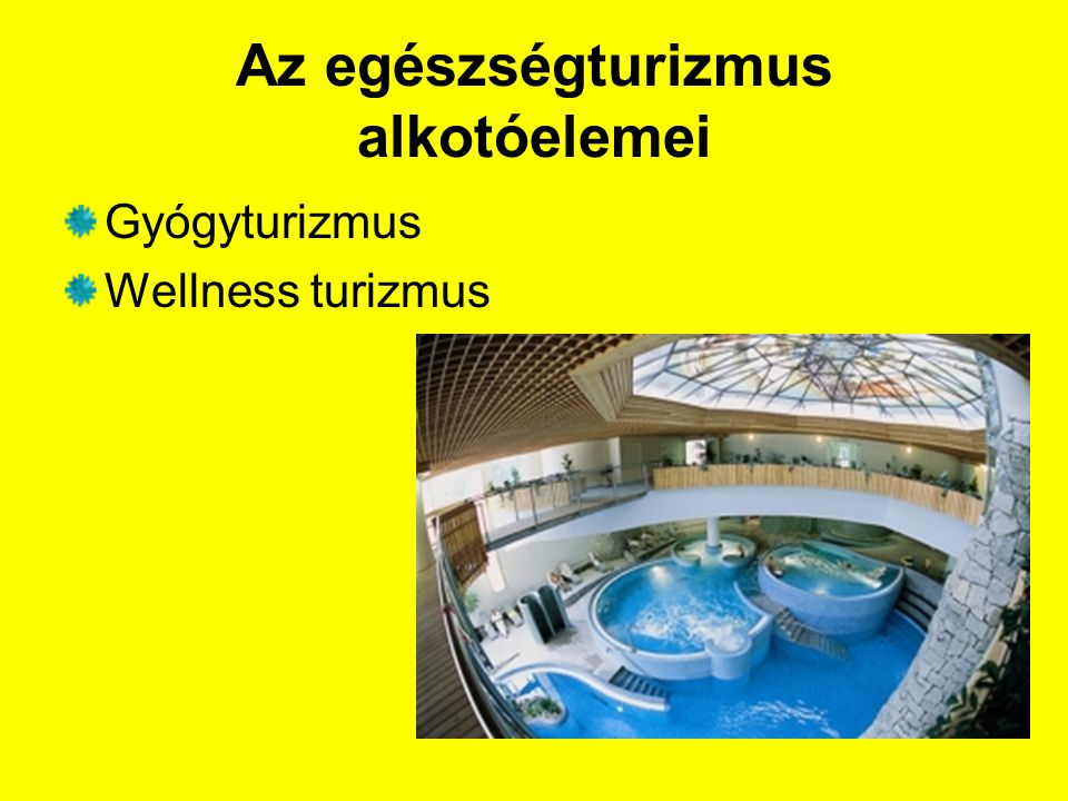 Az egészségturizmus alkotóelemei