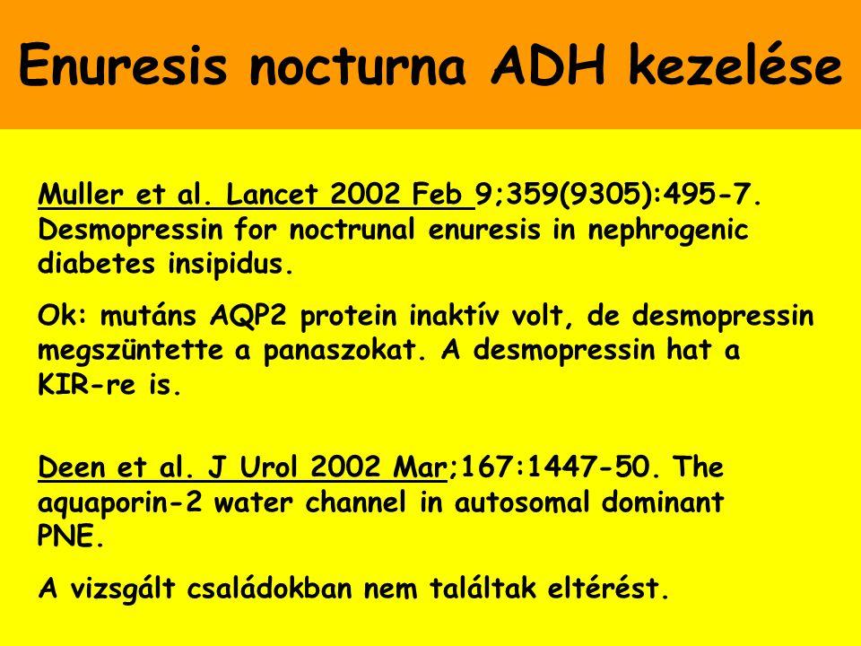 Enuresis nocturna ADH kezelése