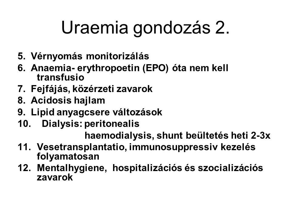 Uraemia gondozás 2. 5. Vérnyomás monitorizálás