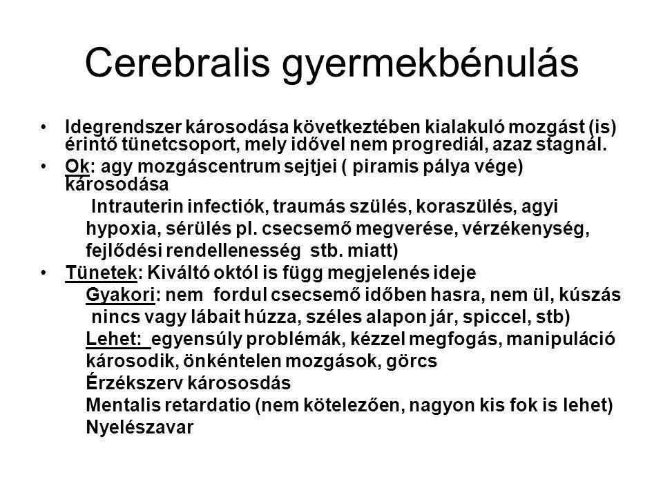 Cerebralis gyermekbénulás